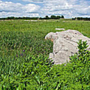 Rocks In A Tall Grass Prairie In Pipestone National Monument-minnesota Poster