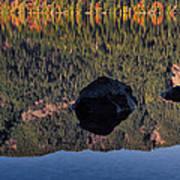 Rocks In Crescent Lake Poster