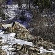 Rocks In Snow Poster