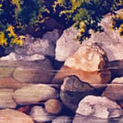 Rocks In Stream Poster