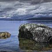 Rocks In The Water On A Lake In Acadia National Park Poster
