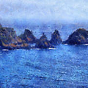 Rocks On Isle Of Guernsey Poster