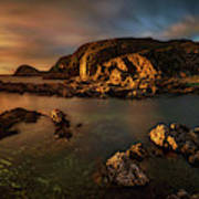 Rocky Coastline At Sunset, Point Poster