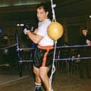 Rocky Marciano Training Hard Poster by Retro Images Archive