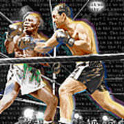 Rocky Marciano V Jersey Joe Walcott Quotes Poster