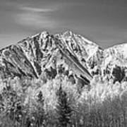 Rocky Mountain Autumn High In Black And White Poster