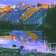 Rocky Mountain Lake Poster by David Lloyd Glover