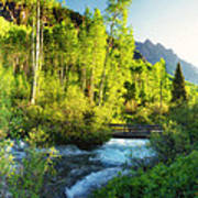 Rocky Mountain River Poster