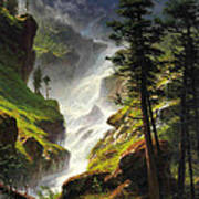 Rocky Mountain Waterfall Poster