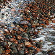 Rocky Shoreline Abstract Poster