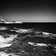 Rocky Shoreline At Salou On The Costa Dorada Catalonia Spain Poster