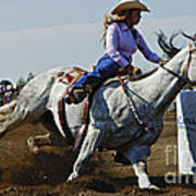 Rodeo Barrel Racer Poster
