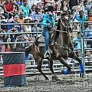 Rodeo Cowgirl Poster by Gary Keesler