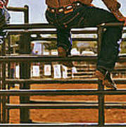 Rodeo Fence Sitters- Warm Toned Poster