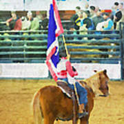 Rodeo Flag Poster