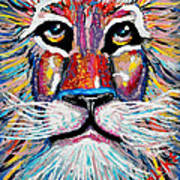 Rodney Abstract Lion Poster