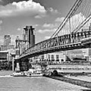 Roebling Bridge Poster