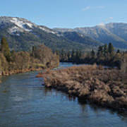 Rogue River And Mt Baldy In Winter Poster