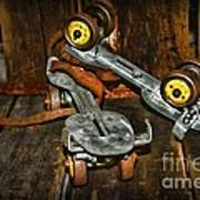 Roller Skates Vintage 4 Poster