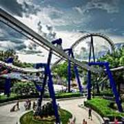 Rollercoaster Amusement Park Ride Poster