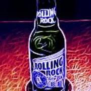 Rolling Rock Dark Poster