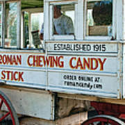 Roman Chewing Candy Wagon In New Orleans Poster