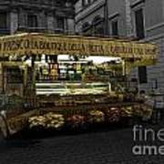 Roman Confectionary Cart Poster