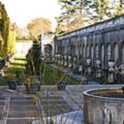 Roman Gardens In Fall Poster