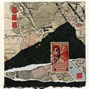 Roman Map Collage Poster