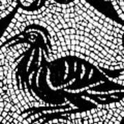 Roman Mosaic Bird Poster