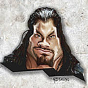 Roman Reigns Caricature By Gbs Poster
