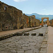Roman Street In Pompeii Poster