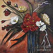Romantic Bouquet Poster by Elena  Constantinescu