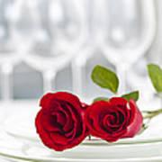 Romantic Dinner Setting Poster by Elena Elisseeva