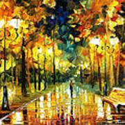 Romantic Lights - Palette Knife Oil Painting On Canvas By Leonid Afremov Poster