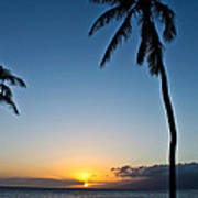 Romantic Maui Sunset Poster