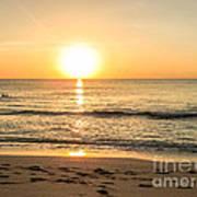 Romantic Ocean Swim At Sunrise Poster