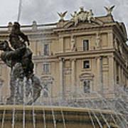 Rome Italy Fountain Naiads Poster