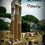 Rome Italy Poster Poster