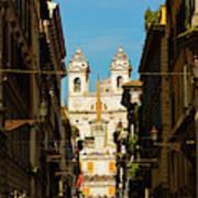 Rome, Italy. View Along Via Dei Poster
