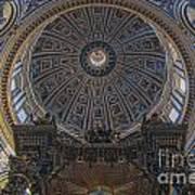 Rome Saint Peters Basilica Interior 01 Poster