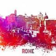 Rome Skyline Poster