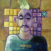 Romeo, 1970 Acrylic & Metal Leaf On Canvas Poster