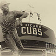 Ron Santo Chicago Cub Statue In Heirloom Finish Poster