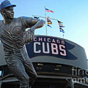 Ron Santo Chicago Cubs Statue Poster