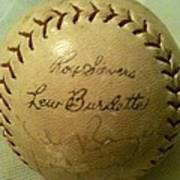 Ron Sievers And Lew Burdette Autograph Baseball Poster