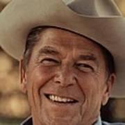Ronald Reagan In 1976 At His Home At Rancho Del Cielo Poster