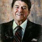 Ronald Reagan Portrait 7 Poster by Corporate Art Task Force