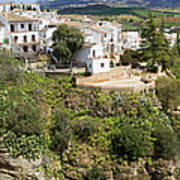 Ronda Houses On A Rock Poster