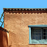 Roof Corner With Ladder And Window Poster